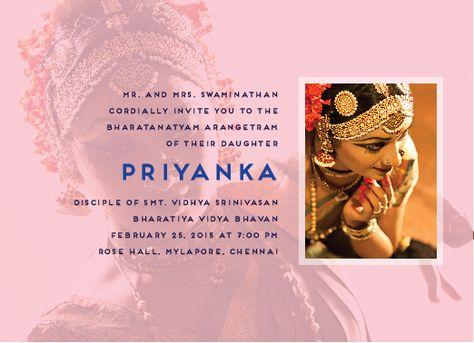 High Energy - Arangetram Invitations Arangetram Invitations - fresh invitation card to chief guest