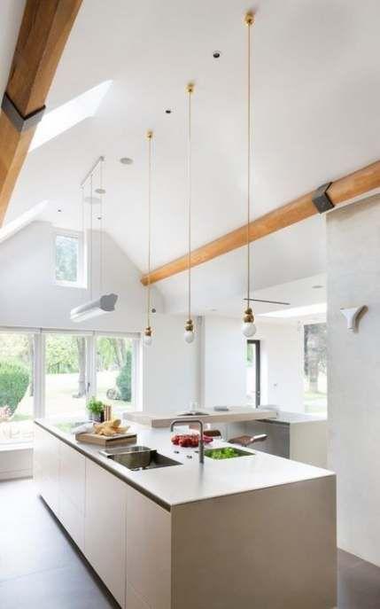 36 Trendy Kitchen Bar Lighting Ideas Vaulted Ceilings Kitchen