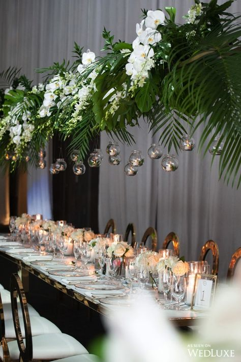Top 10 Luxury Wedding Venues to Hold a 5 Star Wedding - Love It All Tropical Wedding Centerpieces, Tropical Wedding Decor, Flower Centerpieces, Floral Wedding, Flower Arrangements, Wedding Flowers, Orchid Wedding Theme, Wedding Themes, Wedding Decorations