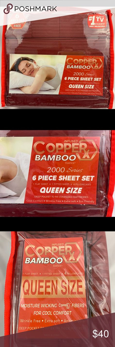 Copper X Infused Bamboo Essence Sheet Set Cool Comfort Extra Soft