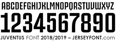 low cost entire collection official supplier Juventus Font 2018/2019 | Jersey font, Fonts, Football fonts