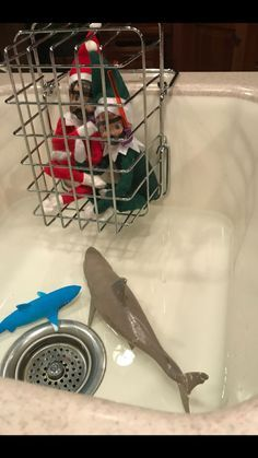 Elf on shelf dive team sharks - Dec.