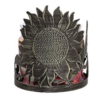 Heirloom Sunflower Jar Holder Tea Light Candles Partylite Garden Tea Lights