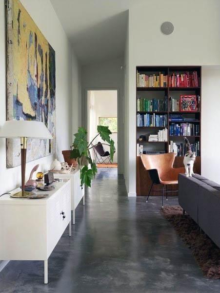 Top 50 Best Concrete Floor Ideas Smooth Flooring Interior Designs Concrete Floors Living Room House Interior Home