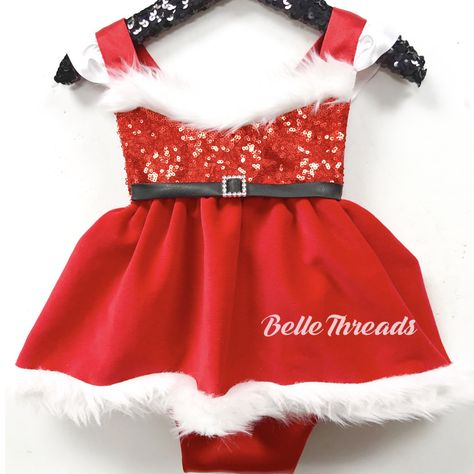 98e7bc95406 Mrs. Claus in Red Velvet Sparkle Romper Christmas Tutu