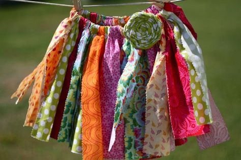 tutu with scraps of fabric instead of tulle!  LOVE.  Who wants one??  I need an excuse to make this.