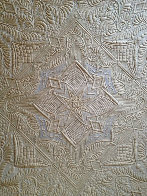 """""""Autumn's Surrender""""(back), made and quilted by Margaret Solomon Gunn, 2014, silk Radiance, www.quiltsoflove.blogspot.com"""