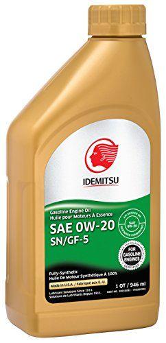 Idemitsu 30010092-75000C020 Full Synthetic 0W-20 Engine Oil