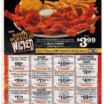 picture relating to Popeyes Coupon Printable named No cost Printable Discount codes: Popeyes Fowl Discount coupons Sizzling