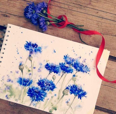 Epingle Par Bille De Bois Sur Aquarelle Peinture Fleurs Art De