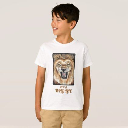 Personalised Jungle Animals Printed Childs T-Shirt Gift