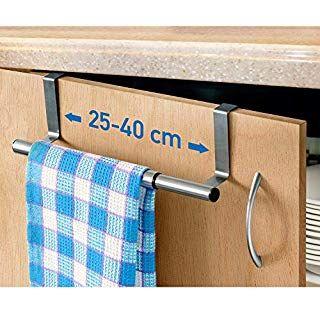 Tafkraft Horizon Porte Serviettes ou Torchons Overdoor INOX /à Suspendre sur Portes de Placard Installation sans Per/çage