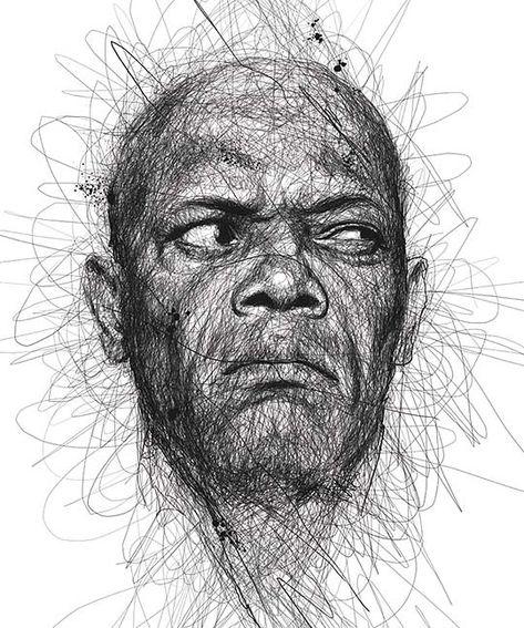 Retratos de famosos a lápiz e ilustración de VINCE LOW - Colectivo Bicicleta   Revista digital/Artes visuales. ilustración y diseño Colombia y Latinoamerica