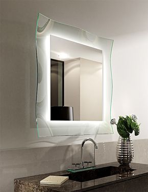 Specchio Bagno Led 100.Specchio Retro Illuminato Led Ginevra Riflessi Con Cornice