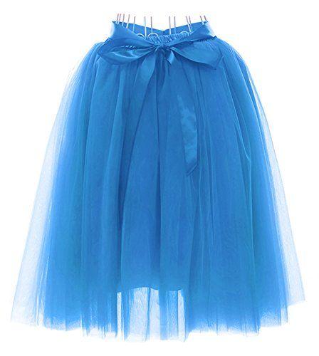 Tüllrock blau