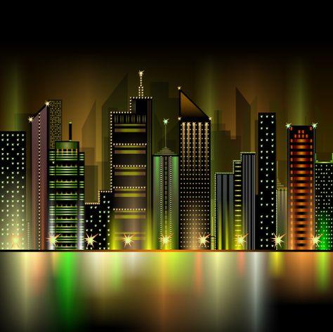 Gran Ciudad Imagen Vectorial Mardel Pinterest Coreldraw - City skylines turned into geometric metropolises by scott uminga
