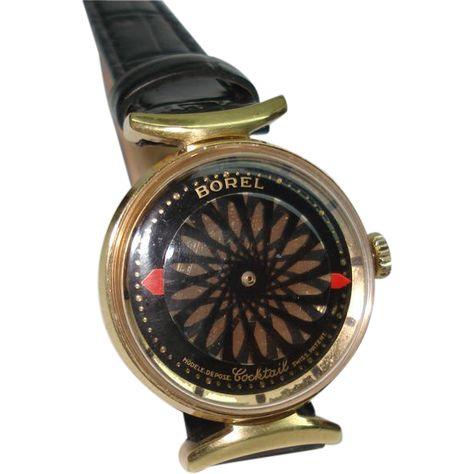 Ernest Borel Vintage Kaleidoscope Skeleton Ladies Wristwatch