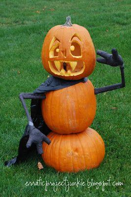 Erratic Project Junkie Happy Halloween Pumpkin Carving Halloween Pumpkins Halloween Boo