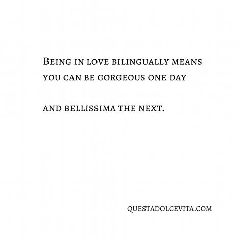 Bilingual Love