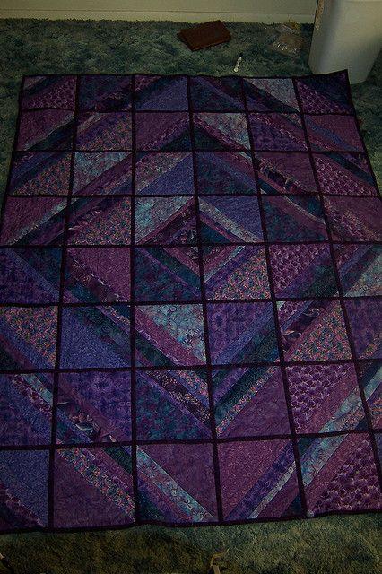 Sarah's quilt - the purple side
