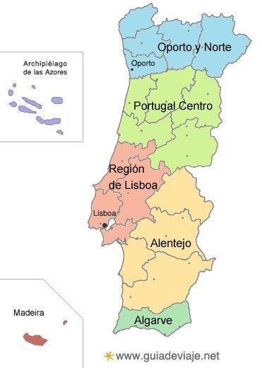 Zonas De Portugal Con Imagenes Portugal Mapa Portugal Algarve