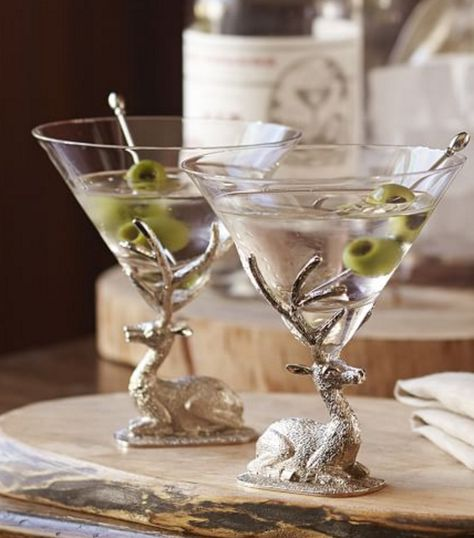 Stag martini glasses