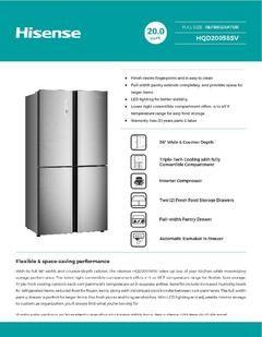 Hisense 20 Cu Ft 4 Door Counter Depth French Door Refrigerator With Ice Maker Fin In 2020 Counter Depth French Door Refrigerator French Door Refrigerator French Doors