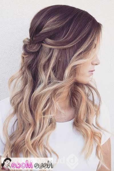 Halboffene Frisur Neue Halboffene Frisuren 2019 Abiball Frisuren Halboffen Brautfrisu Curls For Long Hair Long Hair Wedding Styles Wedding Hair And Makeup
