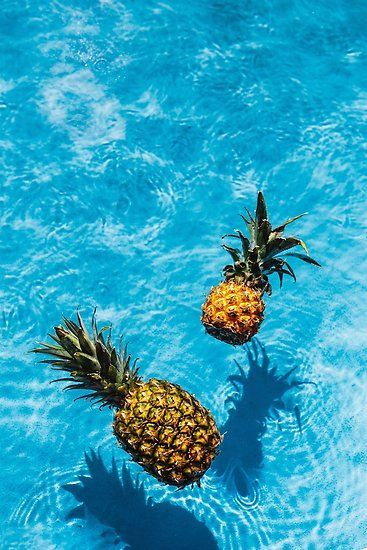 Tropical Pineapples Poster By Newburyboutique Pineapple