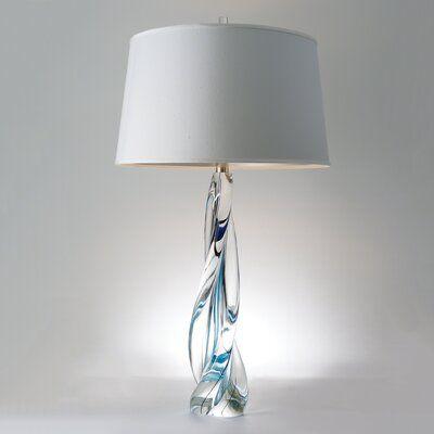Global Views Ocean Twist Lamp Art Glass Table Lamp Blue Glass Lamp Lamp