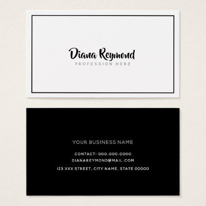 Black And White Handwritten Font Minimalist Business Card Zazzle Com Business Card Minimalist Minimalist Business Cards Business Card Black