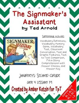The Signmaker's Assistant Activities 2nd Grade Journeys Unit 4