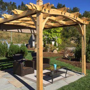 Pergolas 10x12 Arched Breeze Pergola Outdoor Living Today Pergola With Roof Pergola Pergola Outdoor Living