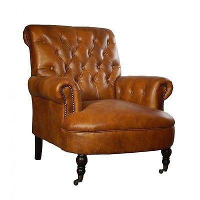 Vintage Echtleder Sessel Galway Relaxsessel Leder Antik