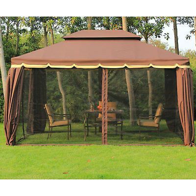 Yardistry 12 X 14 Cedar Gazebo With Aluminum Roof 1 799 99 Picclick Patio Gazebo Aluminum Gazebo Gazebo