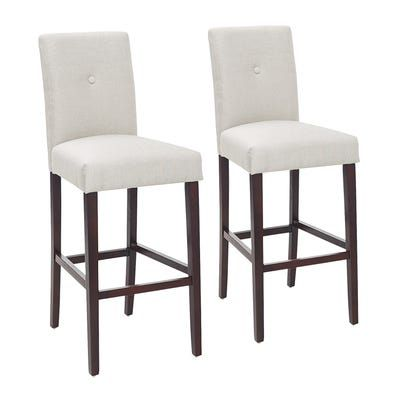 Magnificent Marshall Gray Bar Stool With Espresso Wood Set Of 2 Bar Gmtry Best Dining Table And Chair Ideas Images Gmtryco