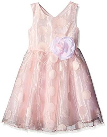 Bonnie Jean Floral Embroidered Organza Dress