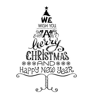 Vintage merry christmas and happy new year vector by AlexVectors on VectorStock®