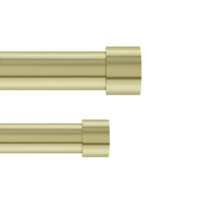Caiden Curtain Rod Set Size 120 X 180 Finish Brass In 2020