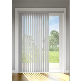 Levolor 13 Pack 3 5 In Grey Plastic Door Vertical Vanes Actual
