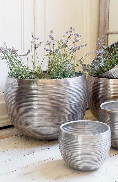 Aluminium Ribbed Finished Planters