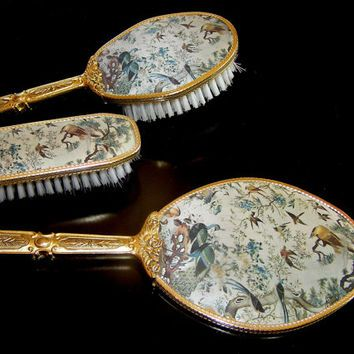Antique Vanity Set Dressing Table, Dressing Table Set Mirror Brush