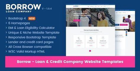 Borrow Loan Company Website Templates Are You Small And Local Loan Company A Loan Company The Borrowers Website Template