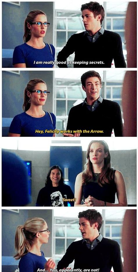 The Flash - Felicity and Barry Caitlyn's face :'( there will be Barry <3 Caitlyn!!!)