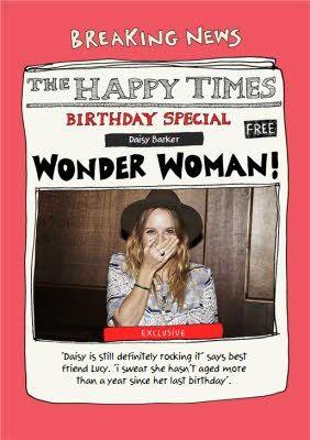 Spoof Newspaper Birthday Card Special Wonder Woman Best Resume Template Spoofs Birthday Cards