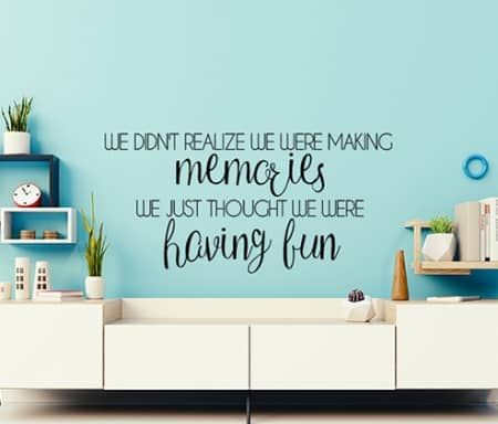 Making Memories Wall Decal Memory Wall Wall Decals Family Wall Decals