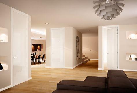 Porte in legno a battente Pivato collezione Inversa Interior - wohnzimmer weiße möbel
