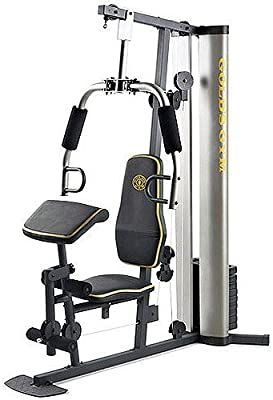 Amazon Com Xr 55 Home Exercise Gold S Gym Weight Stack Padded Seat Preacher Pad Chart Sports Outdoors Golds Gym Home Gym Bench Gym