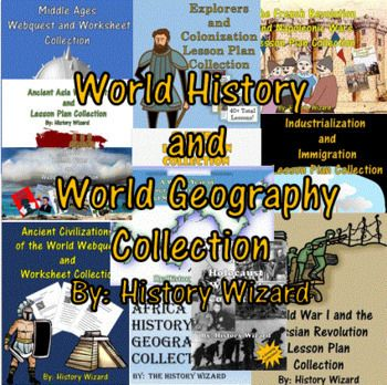 World History And World Geography Collection History Wizard World Geography World History Lessons History Lesson Plans