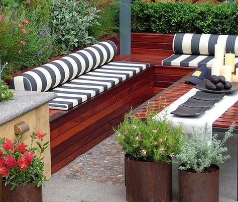 Deck Bench With Storage Idee Deco Terrasse Bancs De Jardin En